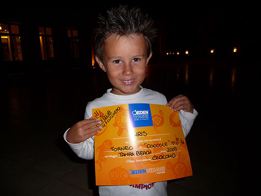 premio torneo coccole del mini club